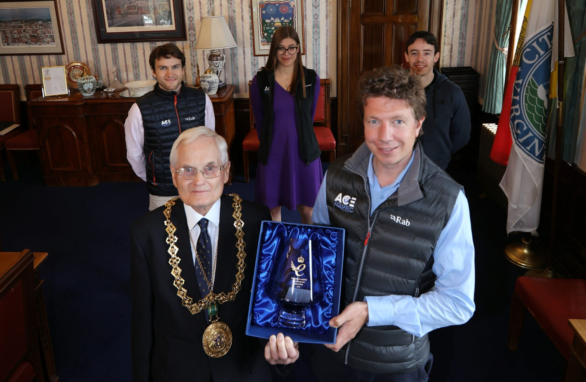Ace Aquatec team with Dundee Lord Provost