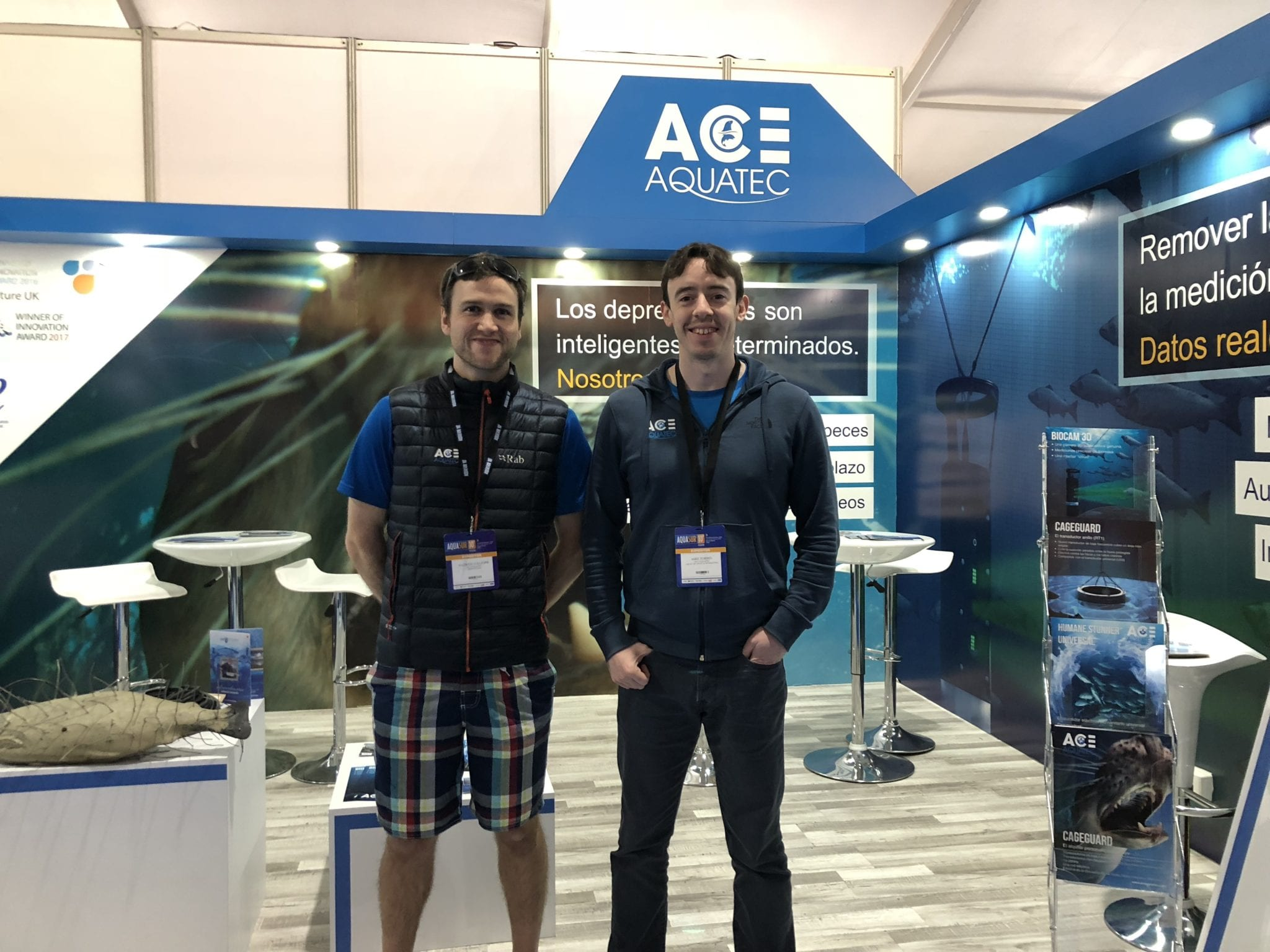 Mike and Andrew at Aqua Sur 2018