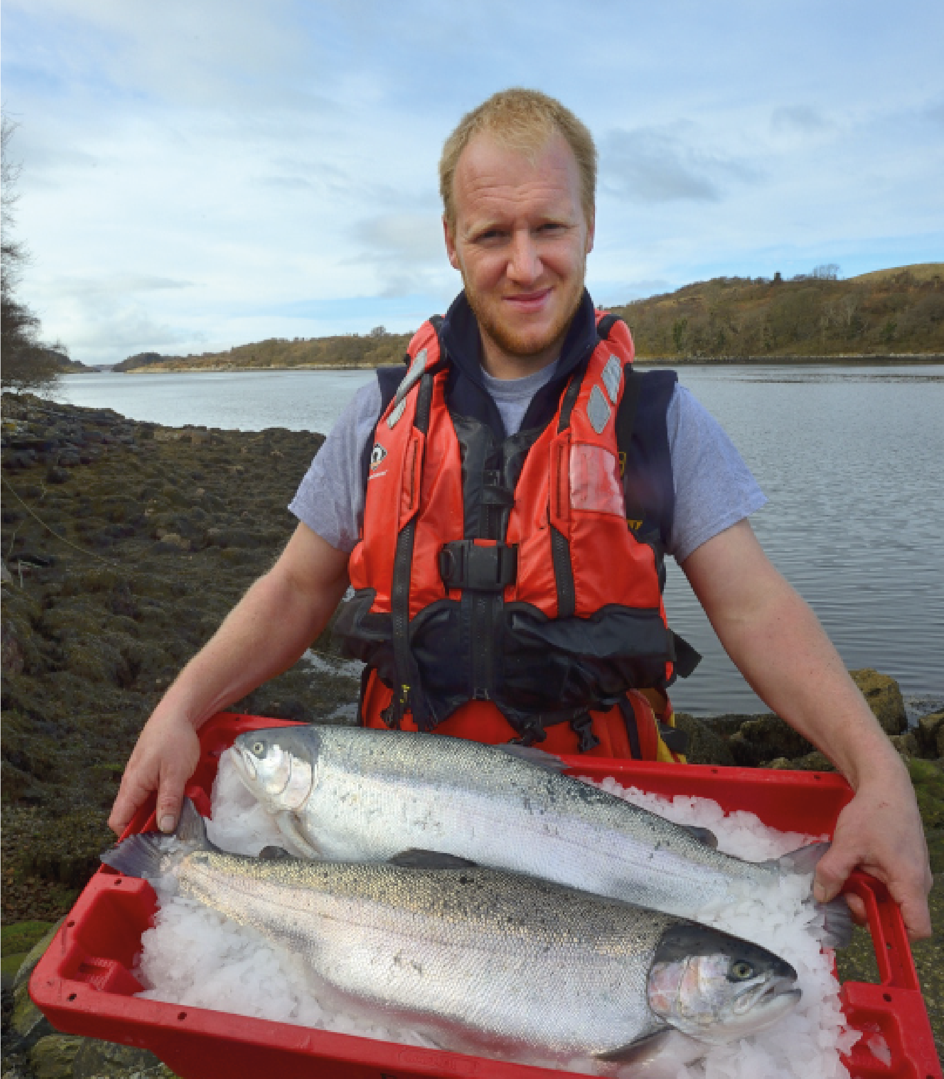 Rob Hackney, Sites Manager of Scottish trout farmer Kames